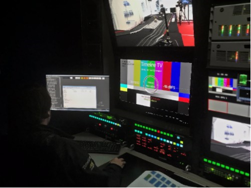 Timeline putting MatchBox into action on board their UHD2 Outside Broadcast Truck